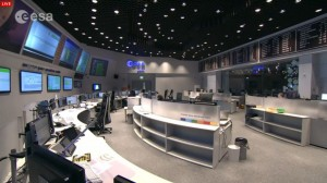 ESA mission control before landing attempt.